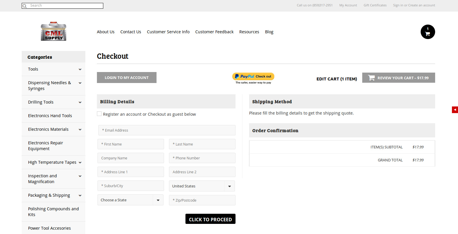 Bigcommerce One Step Checkout In CML