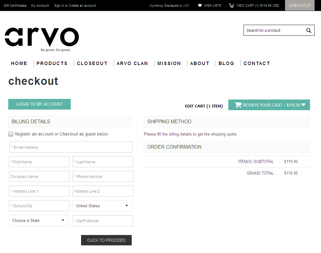 Bigcommerce One Step Checkout In arvo