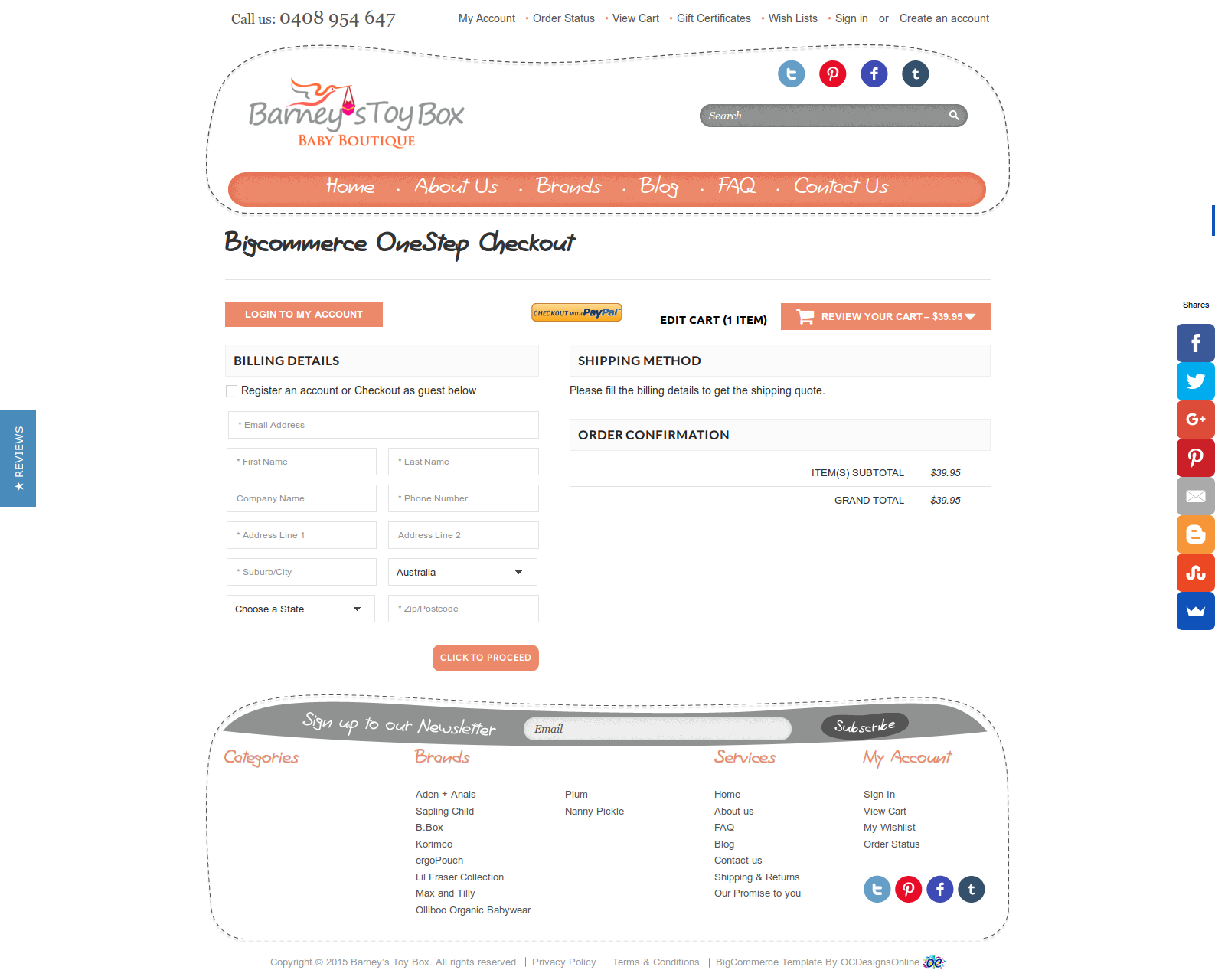 Bigcommerce One Step Checkout In Barney