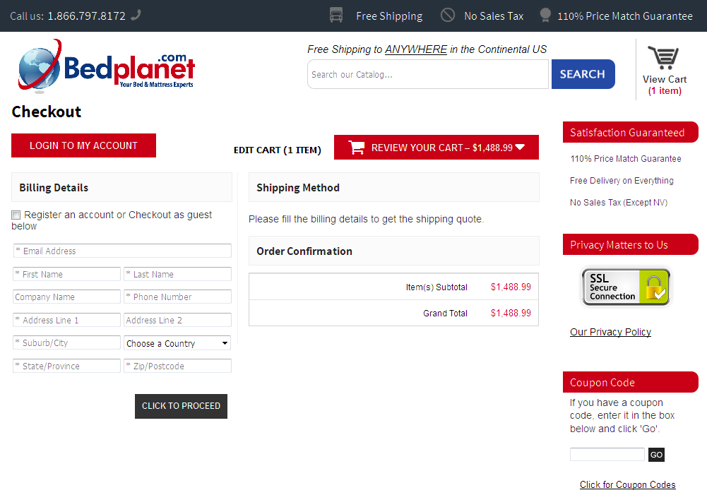 Bigcommerce One Step Checkout In bedplanet