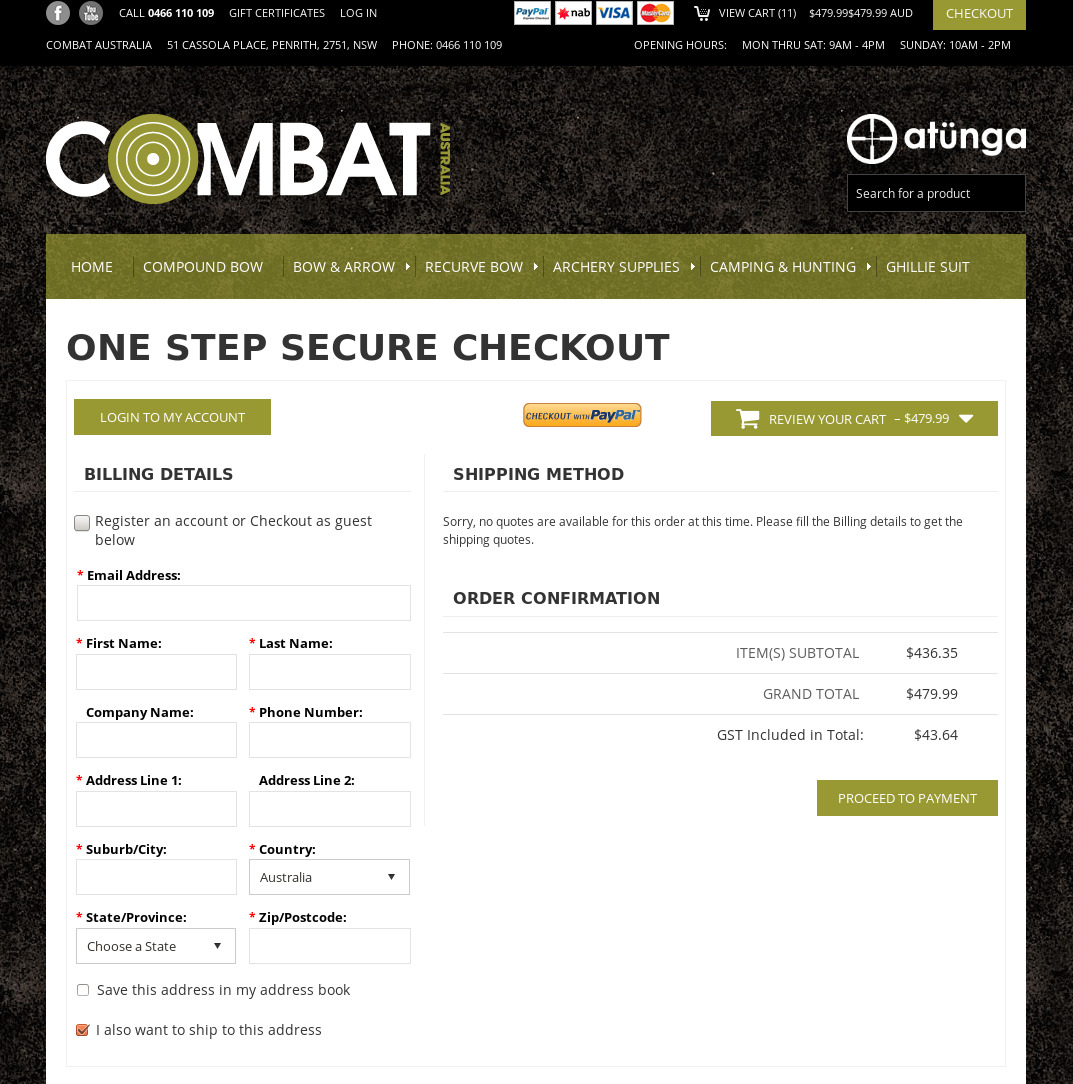 Bigcommerce One Step Checkout In Combat