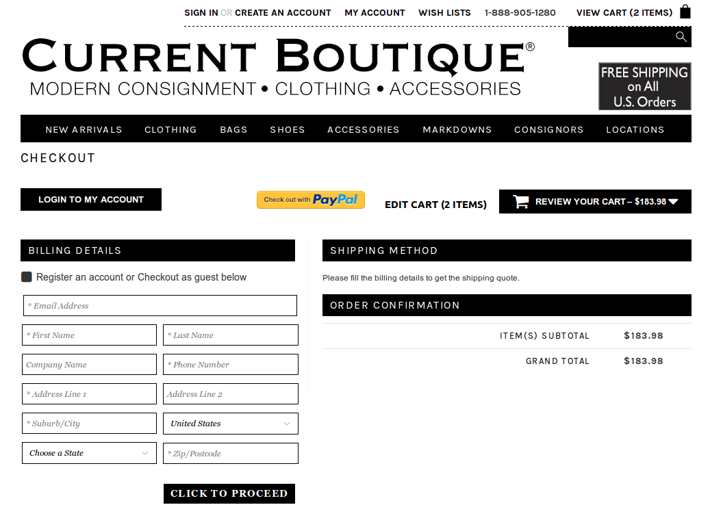 Bigcommerce One Step Checkout In currentboutique