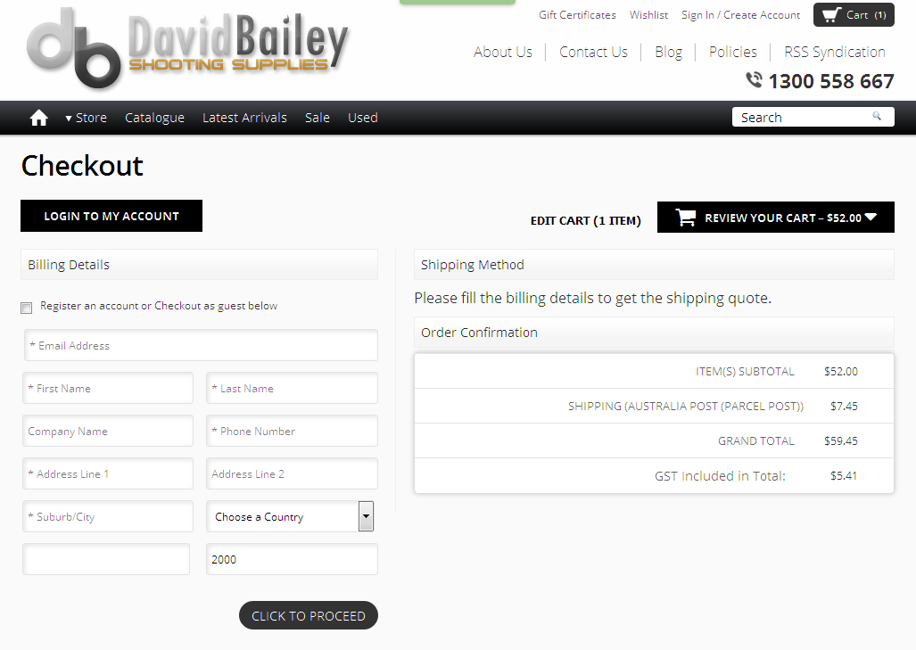 Bigcommerce One Step Checkout In David
