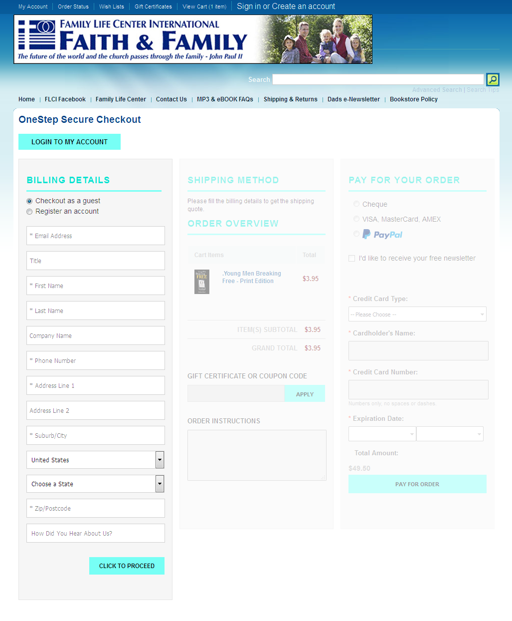 Bigcommerce One Step Checkout In family