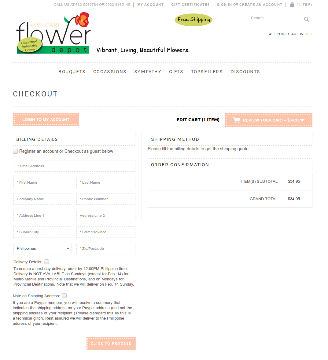 Bigcommerce One Step Checkout In flowerdeport