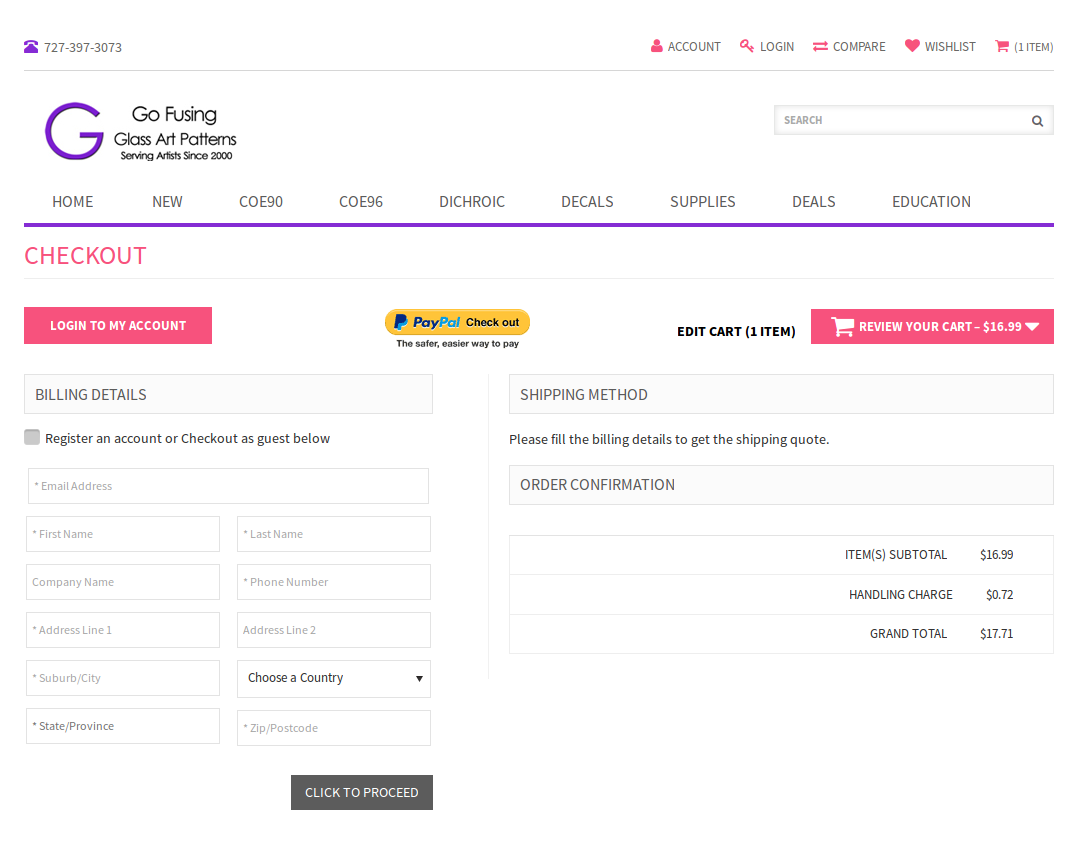 Bigcommerce One Step Checkout In glassart