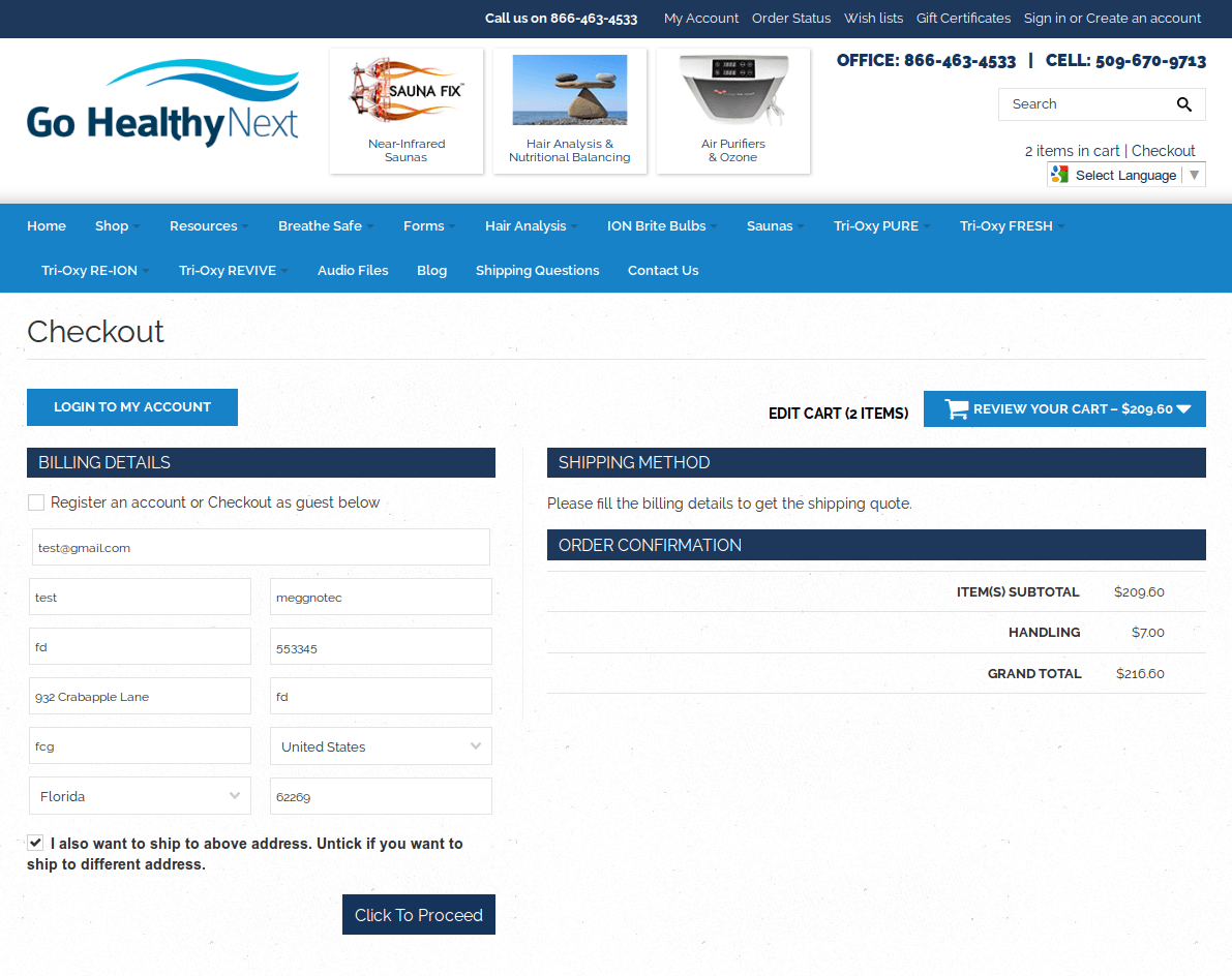 Bigcommerce One Step Checkout In gohealthy