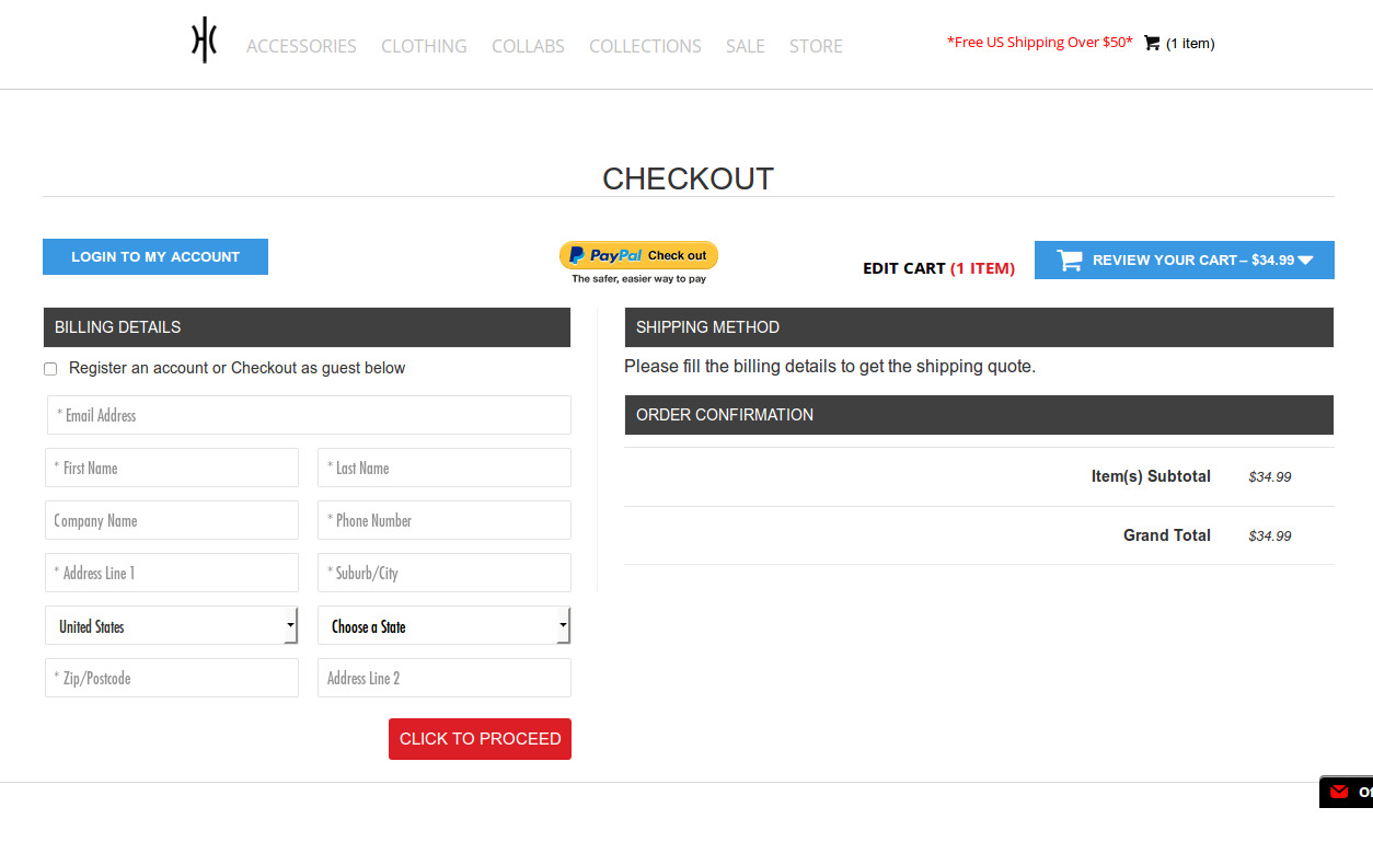 Bigcommerce One Step Checkout In Hoopculture