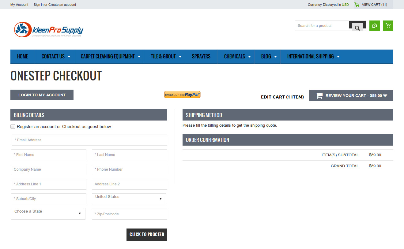 Bigcommerce One Step Checkout In kleenpro