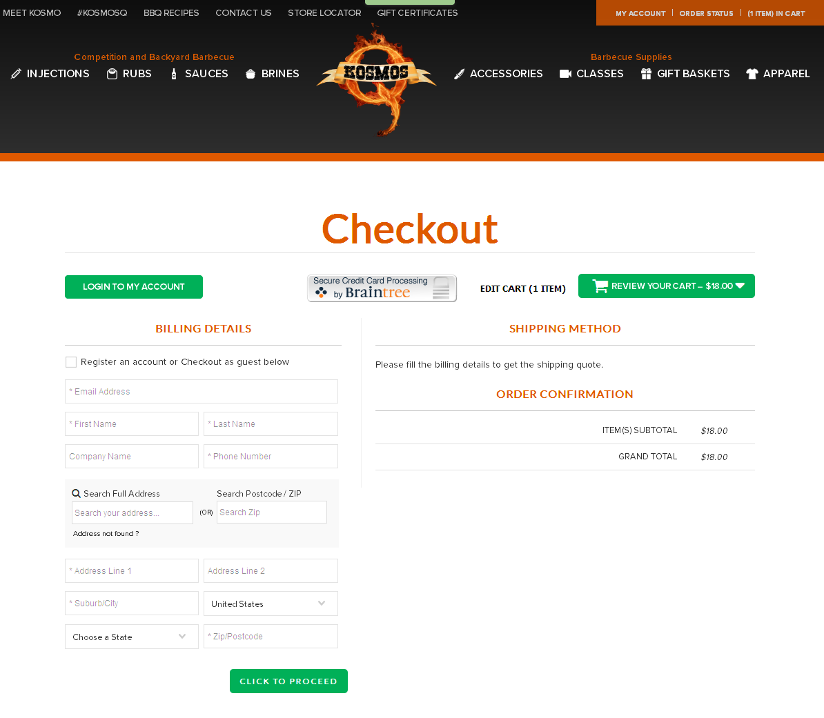 Bigcommerce One Step Checkout In kosmoq