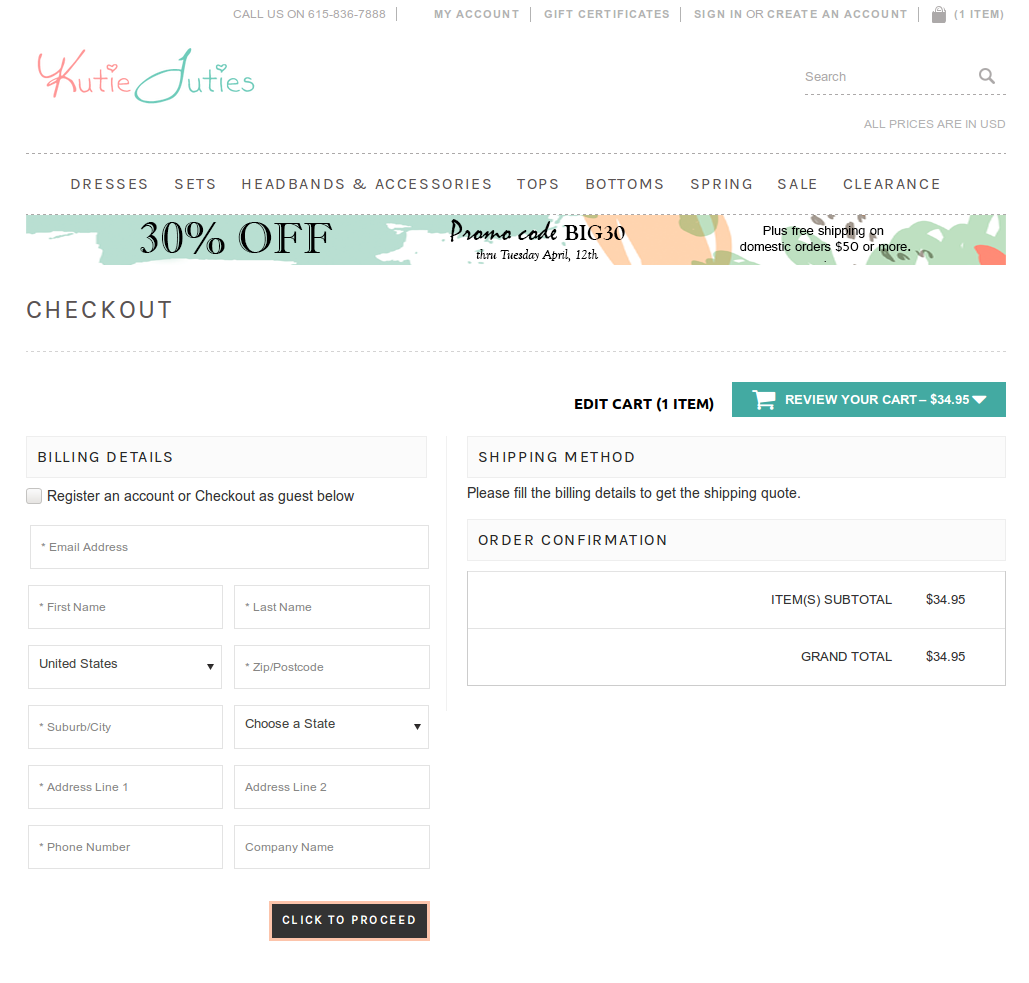 Bigcommerce One Step Checkout In kutietuties