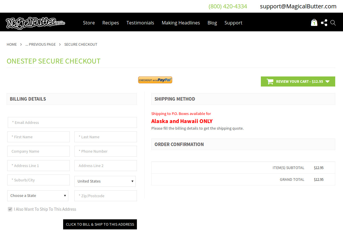 Bigcommerce One Step Checkout In Magicalbutter