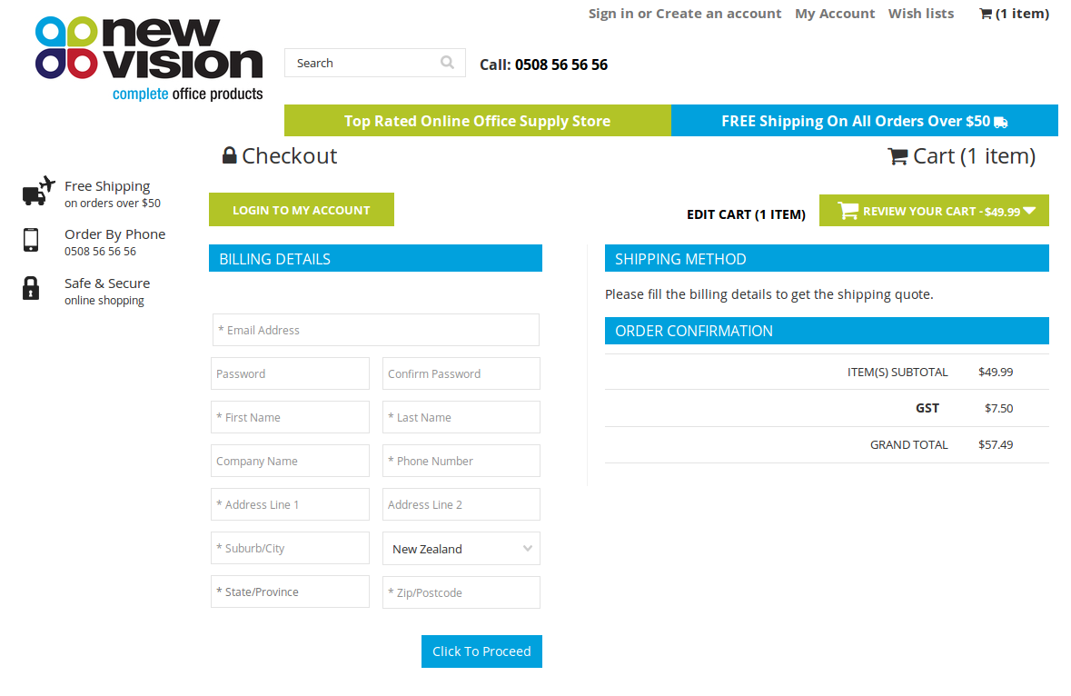 Bigcommerce One Step Checkout In newvision