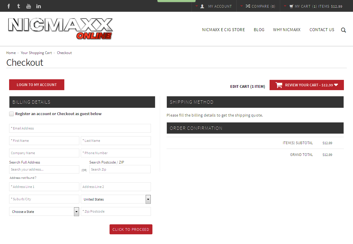 Bigcommerce One Step Checkout In nicmaxxonline