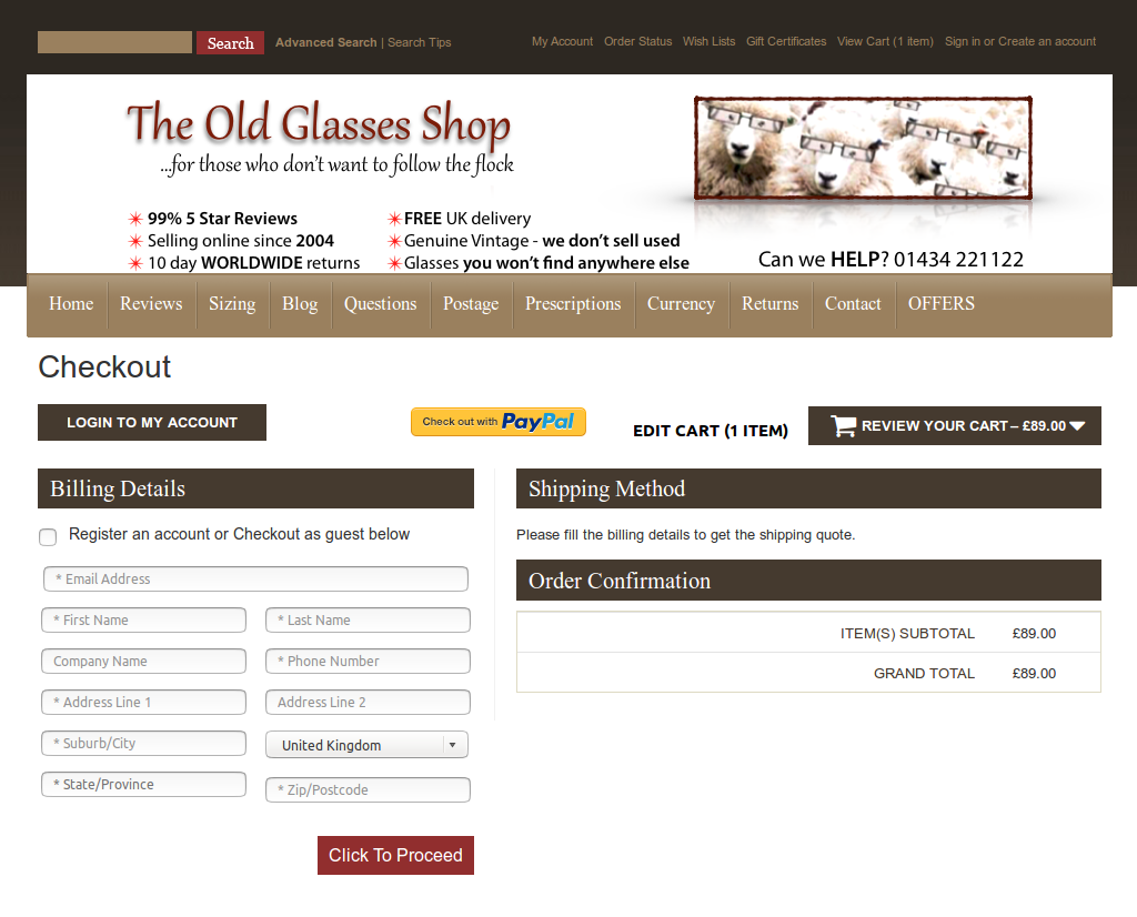 Bigcommerce One Step Checkout In oldgrass