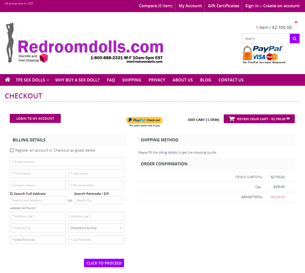 Bigcommerce One Step Checkout In redroomdoll