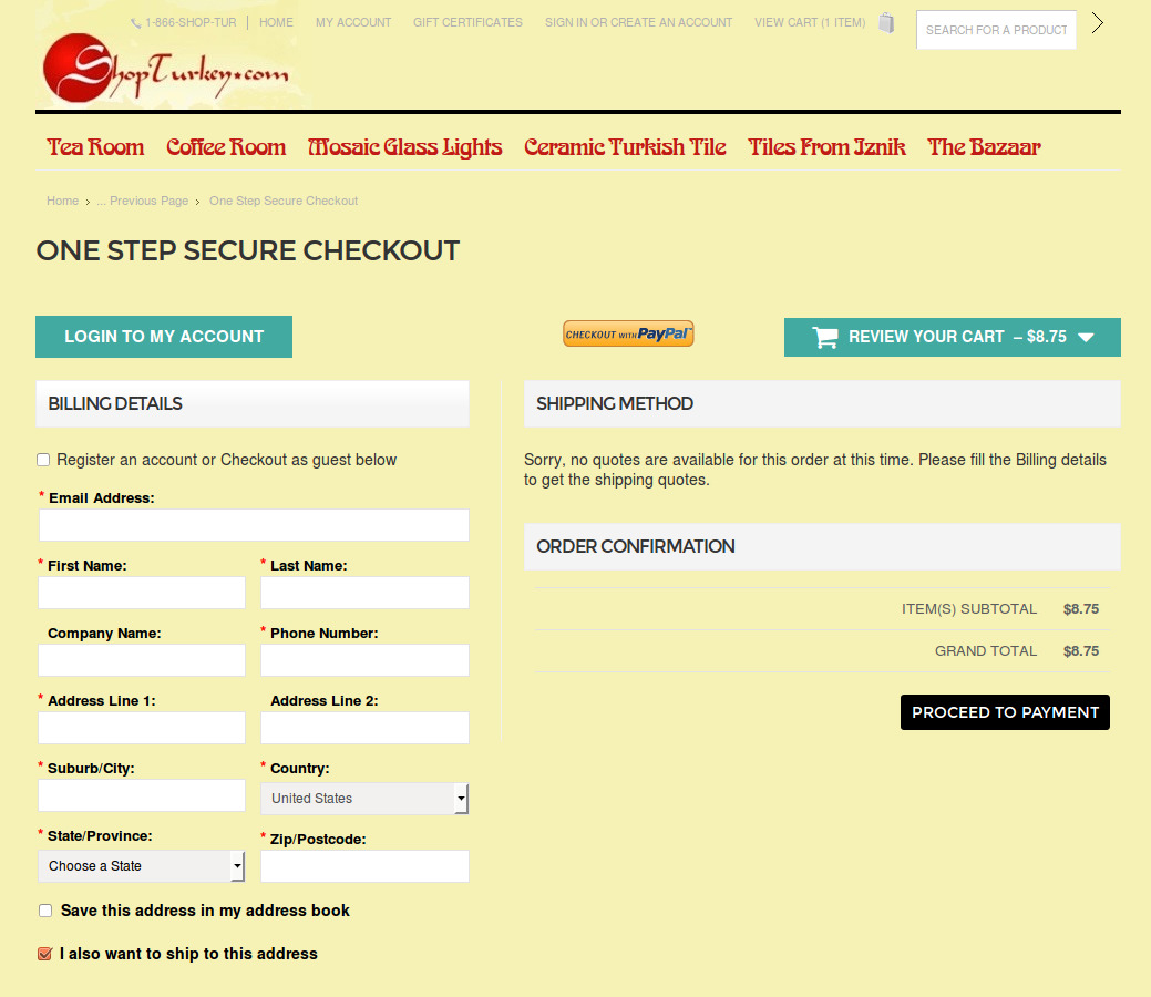 Bigcommerce One Step Checkout In Shopturkey