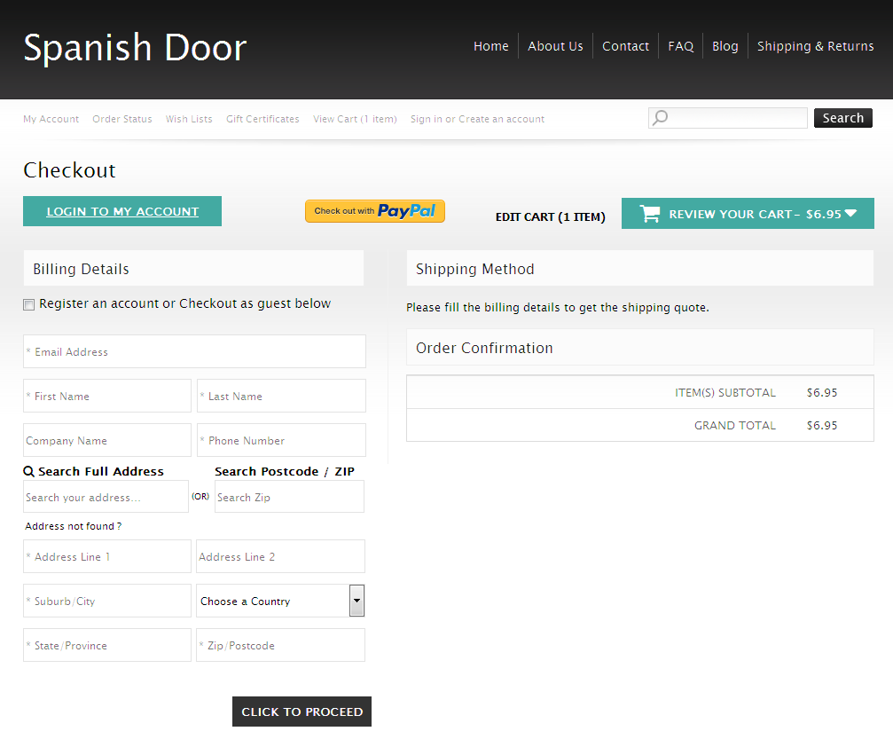 Bigcommerce One Step Checkout In spanish