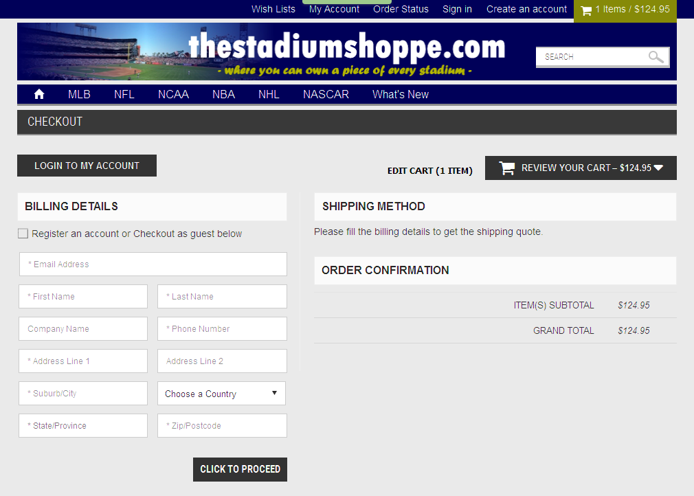 Bigcommerce One Step Checkout In thestadium
