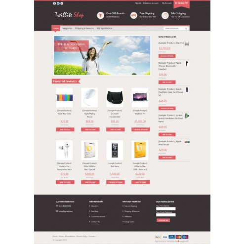 Twillite - Bigcommerce Template