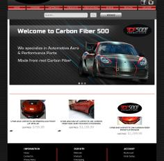 Carbonfiber500 - Volusion website development