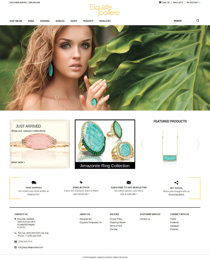 Excuisite joaillerie - Bigcommerce  website development
