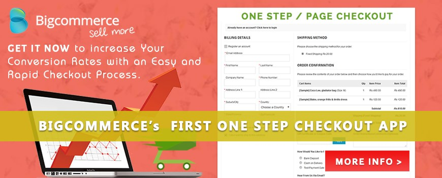 Bigcommerce One Step - Page Checkout App